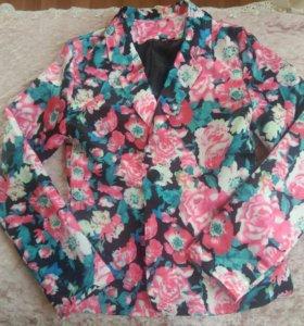 Пиджак новый шелковый
