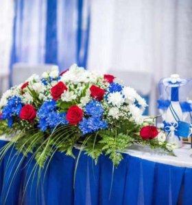 Скатерть на свадебный стол