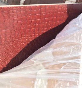 Мебельная доска декорированная кожей