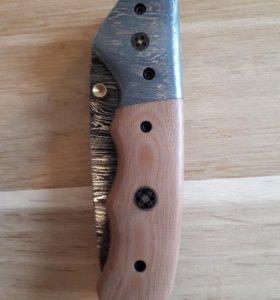 Складной нож, дамаск. 5
