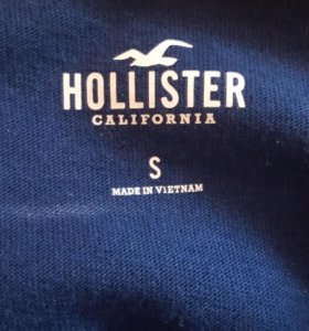 Темно-синий лонгслив хенли с логотипом Hollister