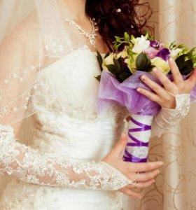 Свадебное платье 40-42 размер (XS-S)