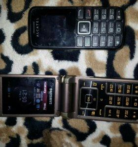 Телефоны  алкатель кнопочный и пикси3 ,нокия X2-00