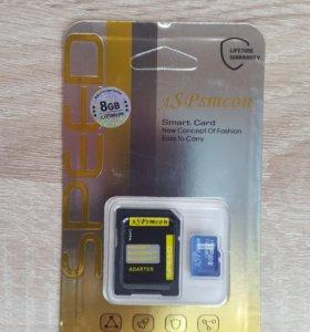 Карта памяти MicroSD ASPsmcon 8/16/32 гб