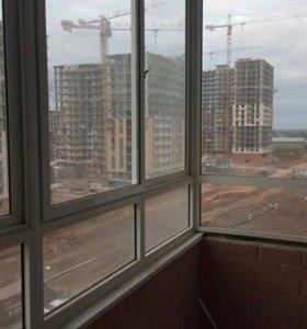 Окна с лоджии, новые, высота 190