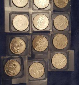 Монеты достоинством 25руб.к Олимпиаде в Сочи 2014