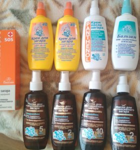 Солнцезащитные крема и от ожогов и для детей
