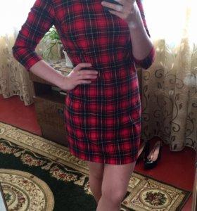 Платье красно-чёрное, в клетку «befree»