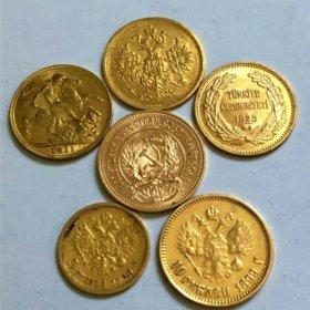 Золотые монеты. Золото