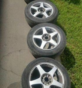 Комплект колес в сборе 205/55/r16 5x100 5x114.3