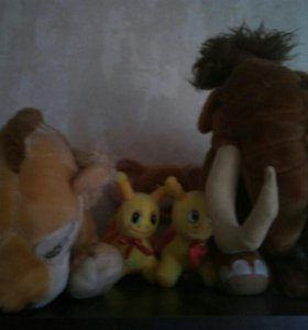 Мягкие игрушки Мэни и Диего