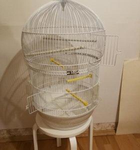 Клетка для птиц Ферпласт белая