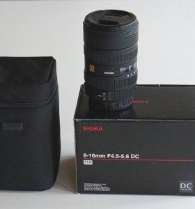Sigma 8-16 mm F4,5-5,6 DC для Sony A