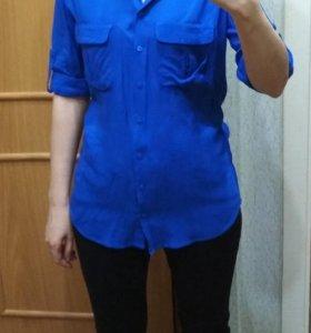 Синяя женская рубашка Modis