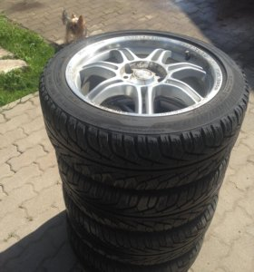 Uniroyal MS Plus 77 225/45 r17 + диски momo