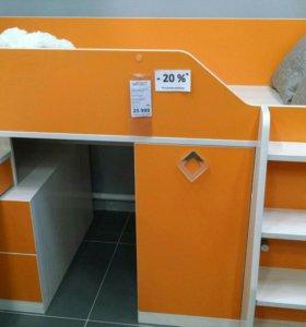 Детская кровать-чердак новая