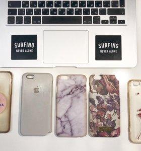 Чехлы на iPhone 6 (цена за 5 чехлов)