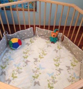 Детский манеж-кроватка Geuther Octo Parc