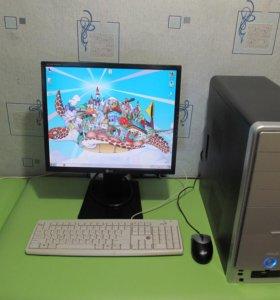 Компьютер + монитор + мышка клавиатура