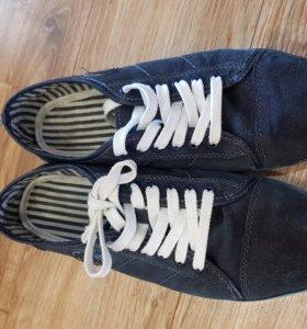 Кеды кроссовки из натуральной замши
