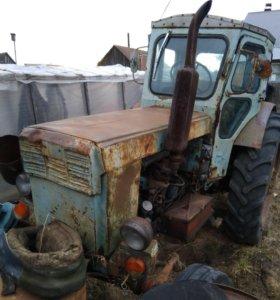 Трактор Т-40 + 2 телеги + плуг