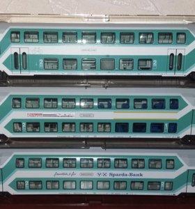 Fleischmann, двухэтажные вагоны