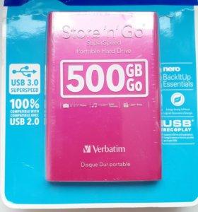 Жесткий диск на 500 гигабайт, новый, в упаковке.