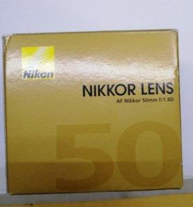 Объектив nikon 50mm 1:1.8 D