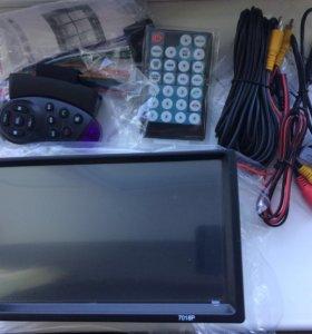 Новая 2 din магнитолога с камерой и управлением