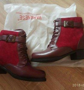 Новые модные ботинки из натуральных материалов