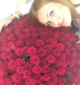 101 роза 70 см в санкт-петербурге