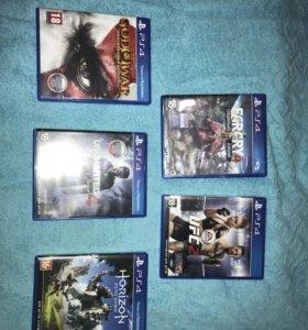 Игры на PS 4(1 шт 1500 руб)