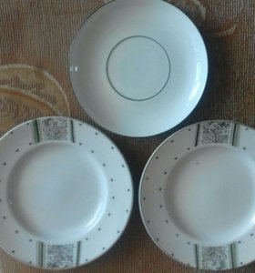 ЛФЗ тарелки десертные и блюдце