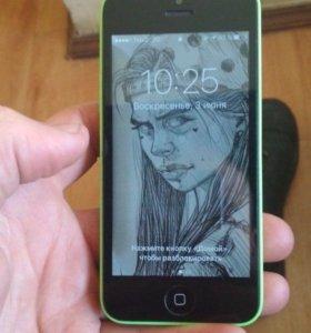 Продам айфон 5 с в отличном состоянии 16гигов торг