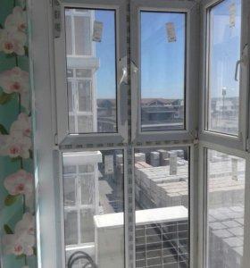 Мойка окон, витражей, балконов.