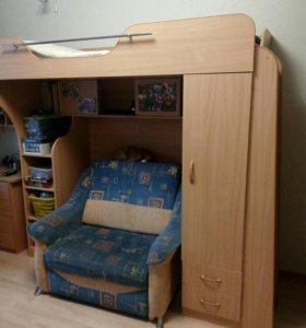 Кровать двухъярусная (кровать - чердак)