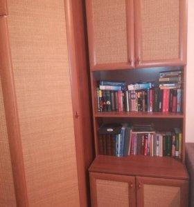 Шкаф угловой + пенал + шкаф книжный