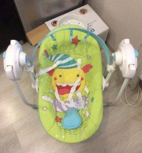 Детское кресло качеля Happy Baby Jolly Green
