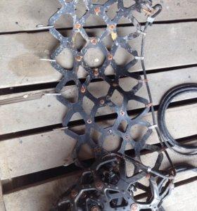 Резиновые цепи, 195х65х15, Корея
