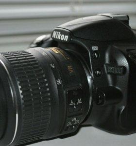 Зеркальный фотоаппарат Nikon d3100 +2 объектива
