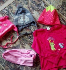 Детские шапочки для девочки 3-5 лет