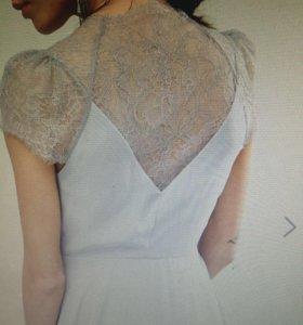 Платье шифон с кружевом