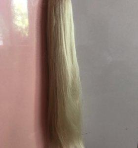 Волосы хвост блонд