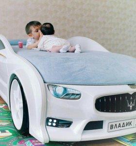 Детская кровать машина арт 001