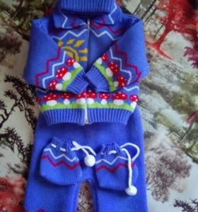 Продам теплый вязаный костюм