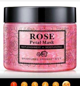 Нежная маска BIOAQUA с лепестками роз