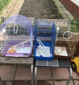 Продам 3 клетки для попугаев