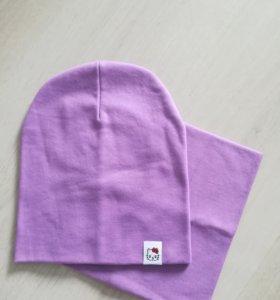 Новый комплект шапка +снуд