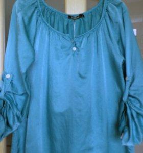 Новая блуза из шелка с хлопком (48-50)