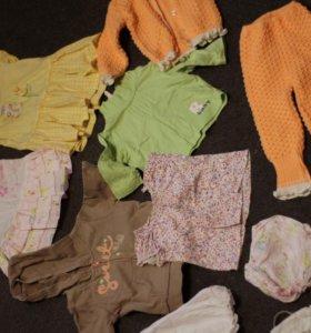 пакет вещей на девочку 62-80